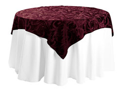 "84"" x 84"" Square Premium Melrose Tablecloth"