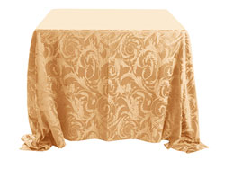 "90"" x 90"" Square Premium Melrose Tablecloth"