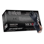 Microflex Black MidKnight Nitrile Gloves - 100-Pack - Medium