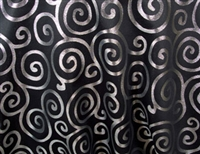 Metallic Scroll Fitted Tablecloth 6 FT Rectangular W/Pleated Corners