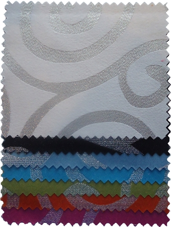 Metallic Scroll Swatch Card