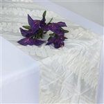 Paradise Forest Taffeta Table Runners – Ivory