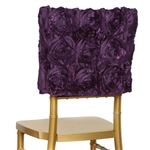 Grandiose Rosette Chair Caps (Square-Top) – Eggplant