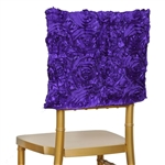 Grandiose Rosette Chair Caps (Square-Top) – Purple