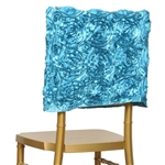 Grandiose Rosette Chair Caps (Square-Top) – Turquoise