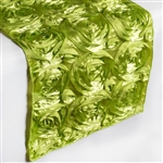 Grandiose Rosette Table Runners – Apple Green