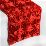 Grandiose Rosette Table Runners – Red