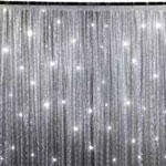 20ft x 10ft Grand Duchess Sequin Backdrop – Silver