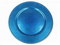 "13"" Royal Blue Beaded Charger Plate-Set of 6"
