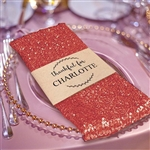 Premium Sequin Napkin for Wedding Banquet Party Table Decoration in Coral