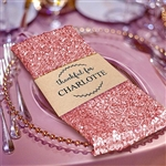 Premium Sequin Napkin for Wedding Banquet Party Table Decoration in Rose Gold/Blush