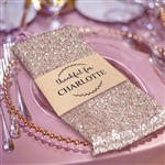 Premium Sequin Napkin for Wedding Banquet Party Table Decoration in Champagne