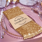 Premium Sequin Napkin for Wedding Banquet Party Table Decoration in Gold