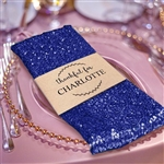 Premium Sequin Napkin for Wedding Banquet Party Table Decoration in Navy Blue