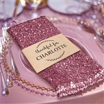 Premium Sequin Napkin for Wedding Banquet Party Table Decoration in Pink