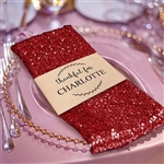Premium Sequin Napkin for Wedding Banquet Party Table Decoration in Red