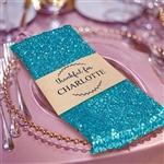 Premium Sequin Napkin for Wedding Banquet Party Table Decoration in Turquoise