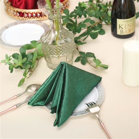 "20"" x 20"" Econoline Seamless Velvet Linen Napkins - 5-Pack - Hunter Green"