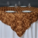 "85""x85"" Grandiose Rosette Table Overlays - Gold"