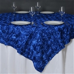 "85""x85"" Grandiose Rosette Table Overlays - Royal Blue"