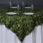 "85""x85"" Grandiose Rosette Table Overlays - Willow Green"