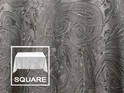 "45"" X 45"" Square Premium Paisley Elegant Lace Tablecloth"