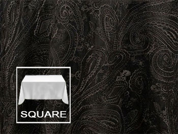 "54"" X 54"" Square Premium Paisley Elegant Lace Tablecloth"