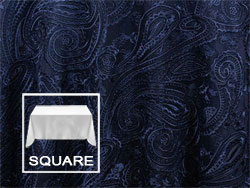 "60"" X 60"" Square Premium Paisley Elegant Lace Tablecloth"