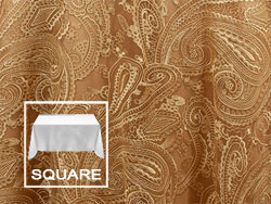"72"" X 72"" Square Premium Paisley Elegant Lace Tablecloth"