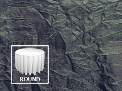 "108"" Premium Crush Iridescent Round Tablecloth"