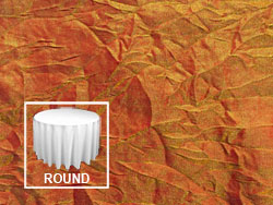 "120"" Premium Crush Iridescent Round Tablecloth"