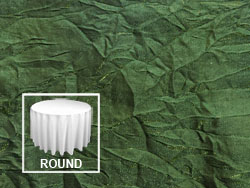 "132"" Premium Crush Iridescent Round Tablecloth"
