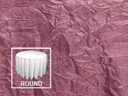 "72"" Premium Crush Iridescent Round Tablecloth"
