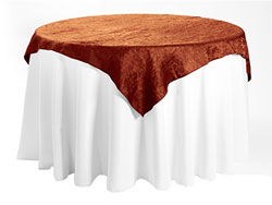 "45"" X 45"" Premium Crush Iridescent Square Tablecloth"