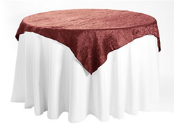 "50"" X 50"" Premium Crush Iridescent Square Tablecloth"