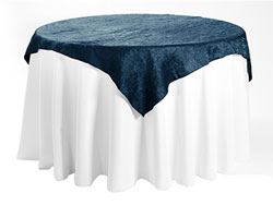 "60"" X 60"" Premium Crush Iridescent Square Tablecloth"