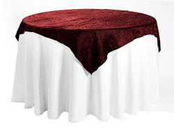"72"" X 72"" Premium Crush Iridescent Square Tablecloth"