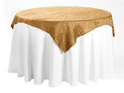 "84"" X 84"" Premium Crush Iridescent Square Tablecloth"
