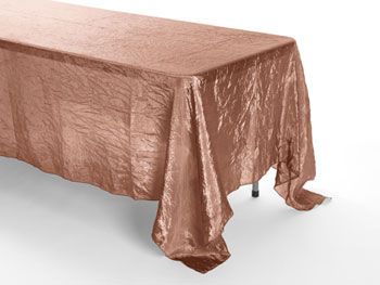 "72"" X 120"" Premium Crush Poly Nylon Rectangular Tablecloth"