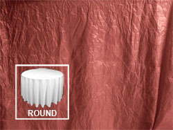 "108"" Premium Crush Poly Nylon Round Tablecloth"
