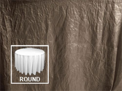 "132"" Premium Crush Poly Nylon Round Tablecloth"