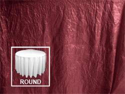 "72"" Premium Crush Poly Nylon Round Tablecloth"