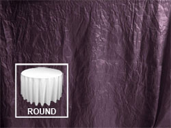 "90"" Premium Crush Poly Nylon Round Tablecloth"