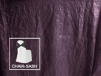 "8"" X 100"" Premium Crush Poly Nylon Chair Sashes - 6 Pack"