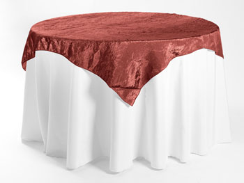 "45"" X 45"" Premium Crush Poly Nylon Square Tablecloth"