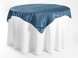 "54"" X 54"" Premium Crush Poly Nylon Square Tablecloth"
