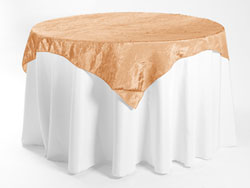 "60"" X 60"" Premium Crush Poly Nylon Square Tablecloth"