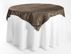 "72"" X 72"" Premium Crush Poly Nylon Square Tablecloth"