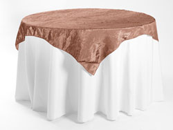 "84"" X 84"" Premium Crush Poly Nylon Square Tablecloth"