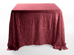 "90"" X 90"" Premium Crush Poly Nylon Square Tablecloth"